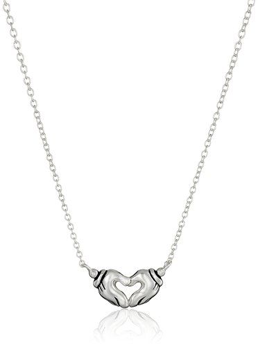 Disney Discovery- Mickey Mouse Hands Heart Pendant Necklace
