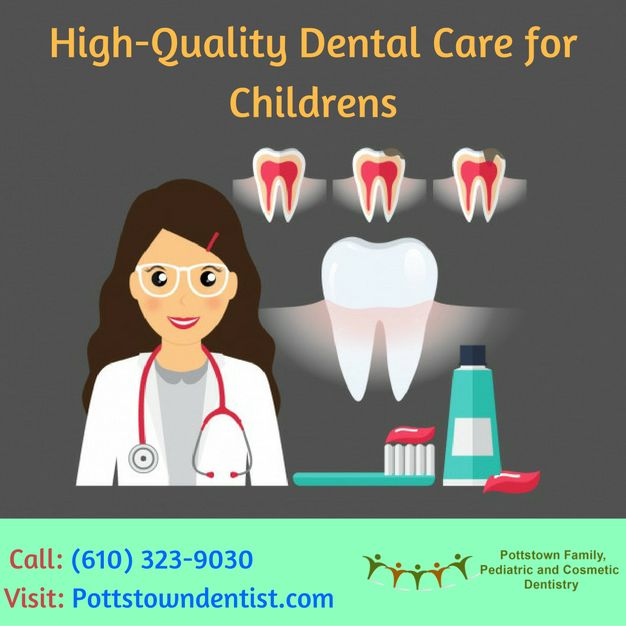 Are you searching for the best pediatric dentist? Pottstown Family & Cosmetic Dentistry strive to give the best oral health care to children and their families in a friendly environment. For more information, Call: (610) 323-9030