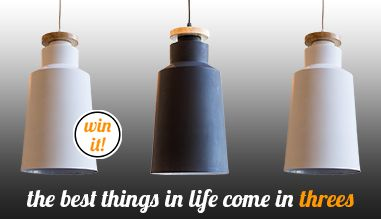 Stand a chance to WIN 3 of any of our exclusive pendants.   To enter: http://www.lightco.co.za/content/9-win
