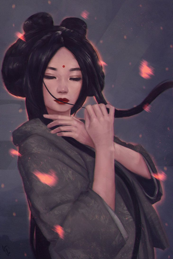 http://www.deviantart.com/art/Geisha-Painting-5-Day-257-591785964