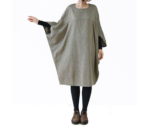 Women Butterfly Maxi Dress Cotton Linen Heavy Dress Plus Size Clothing For Women on Etsy, $115.00