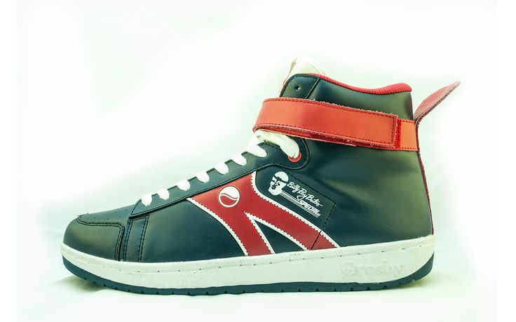 Grosby Black Superman Shoes