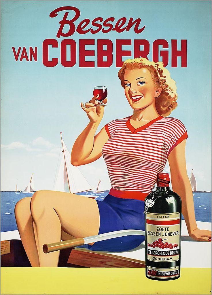 Bessen van Coebergh. 1 Liter zoete bessen jenever Coebergh & De Bruyn Schiedam nieuwe oogst.