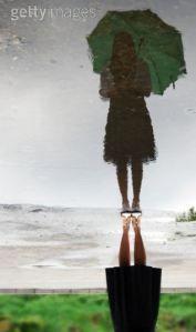Go green slogans. girlwithgreenumbrella