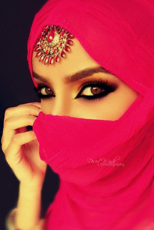 #niqab #hijab #niqabi #pink #islam #love #browneyes # ...  Arabian Women Eyes