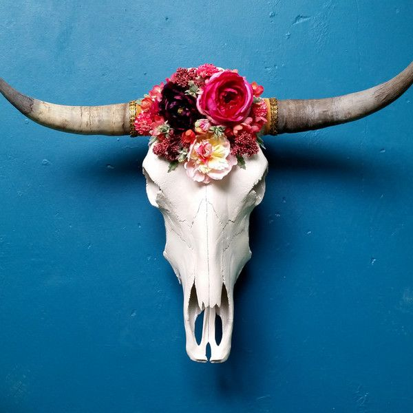 Wildflower Cow Skull || theseekershop.com
