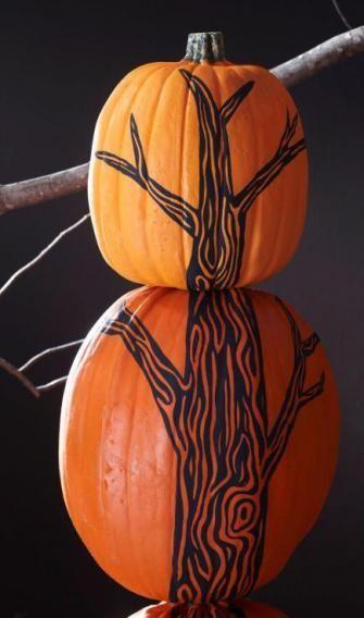 How To Make A Pumpkin Tree Pumpkin Stencil Pumpkin Tree