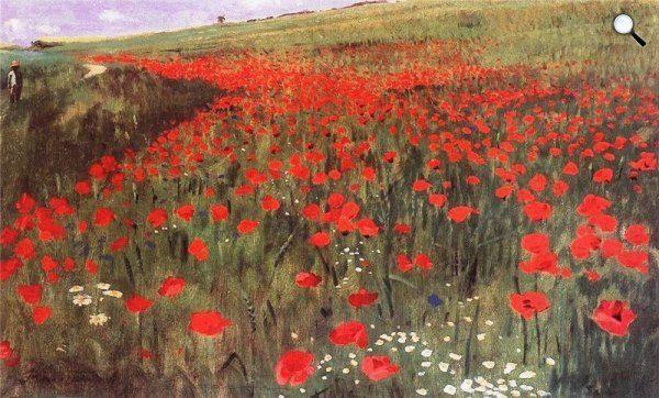 Szinyei Merse Pál: Pipacsos mező, 1896  (Forrás: MNG)