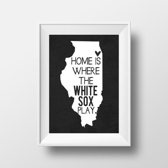 Home is Where the White Sox Play Chicago White by AnnaKatePaperie