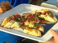 Asian style fish fillets - We used fresh fillets of trumpeter (sweet-lip emperor), black-tip (tomato) cod, scorpion cod and king fish. You can use any firm-fleshed fish you can catch or choose to buy. Skin on is best for this recipe.