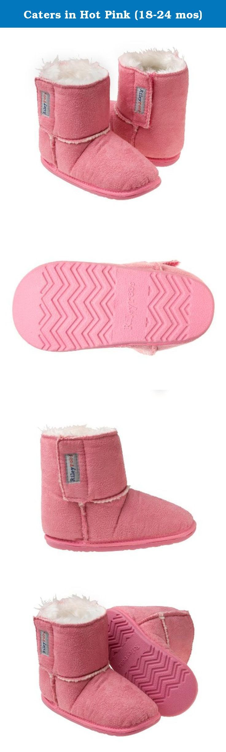 Caters in Hot Pink (18-24 mos). Rileyroos cozy boots will keep little feet warm, protected and stylish! Soft textile uppers with complimentary stitching and a warm fleece inner. Flexible rubber soles to protect little feet, while protecting little feet. What makes this style extra special - they are vegan, no animal byproducts are used on the boots! Keep boots looking as good as the day you bought them, by machine or hand washing.