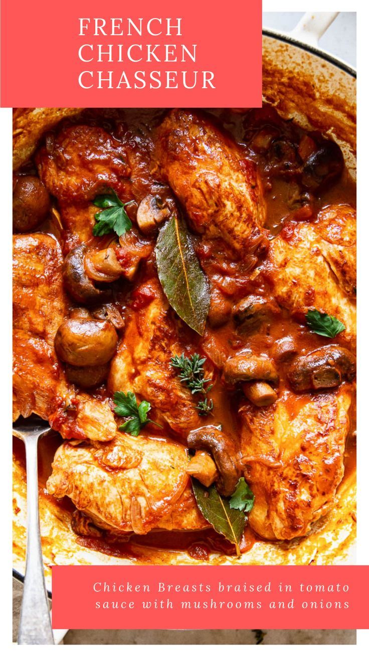 Chicken Chasseur Recipe Chicken Chasseur Recipe Chicken Recipes Chicken Chasseur