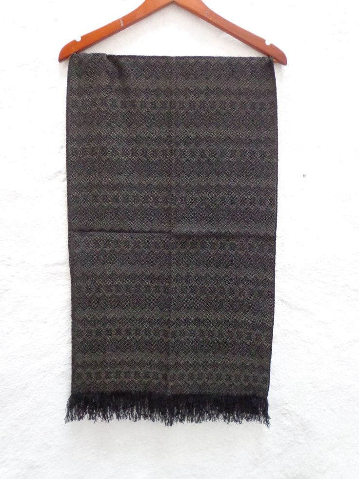 Mexican Women's Accessories Rebozo Shawl Scarf with Geometric Pattern Made in Jacquard Looms