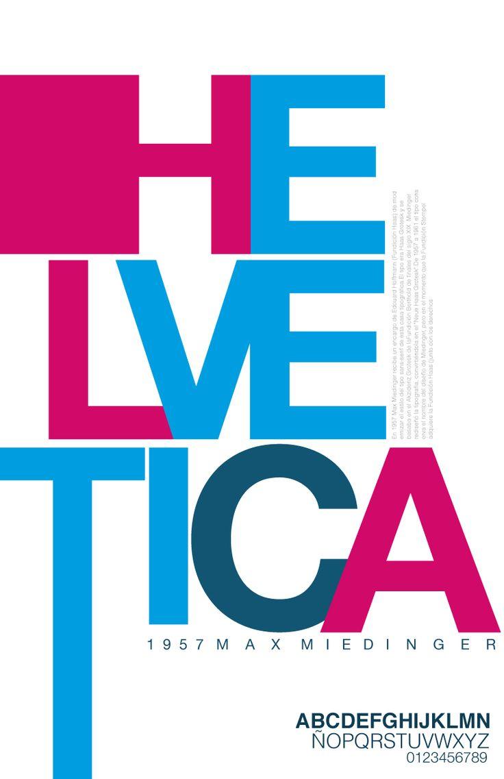 Afiche Tipografico Helvetica