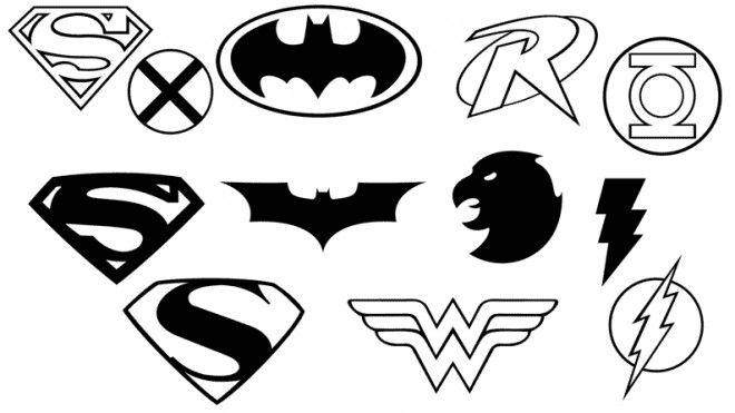 Coloriage Signe Batman.Coloriage Super Heros Logos Et Dessin Gratuit A Imprimer