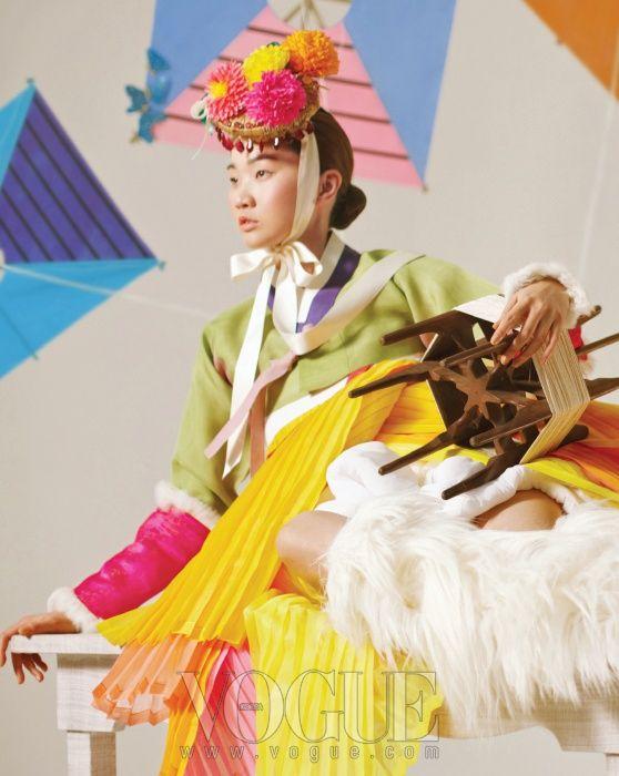 kinda liking this modern hanbok look