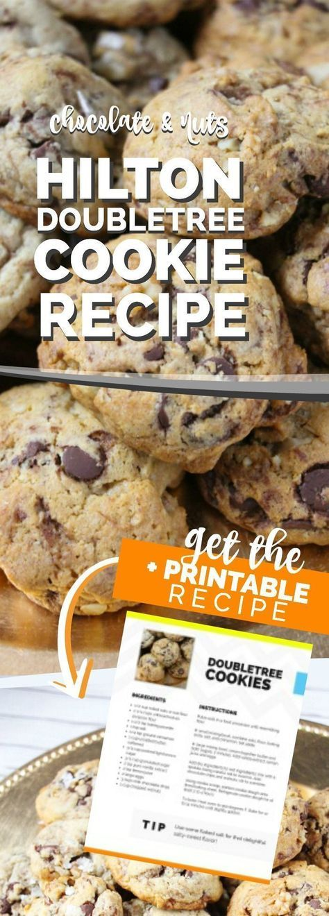 These Hilton Doubletree Cookies are AMAZING. If you only want to make one chocolate chip cookie recipe, make it this one. We added chocolate chips and walnuts this time and they are perfection. Pin Now!