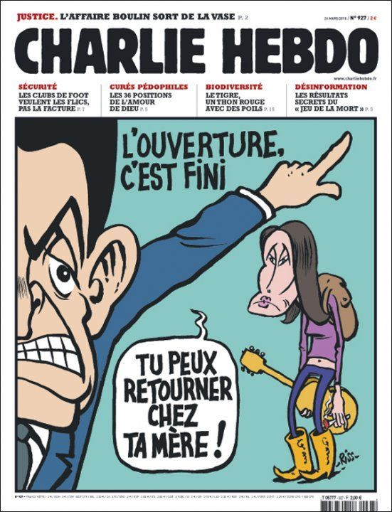 Charlie Hebdo - # 927 - 24 Mars 2010 - Couverture : Riss