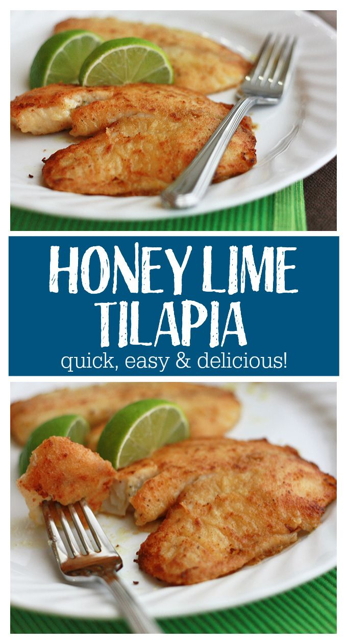 This Honey Lime Tilapia is so good it converts kids and fish haters alike. It's our favorite!