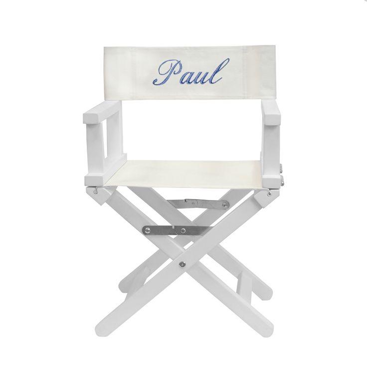 Cadeau inoubliable et très utile, ce fauteuil metteur en scène en bois blanc personnalisé au prénom de l'enfant est parfait dès 1 an. #fauteuilmetteurenscenepersonnalise #chaisepersonnalisee #cadeaupersonnalise #decoration