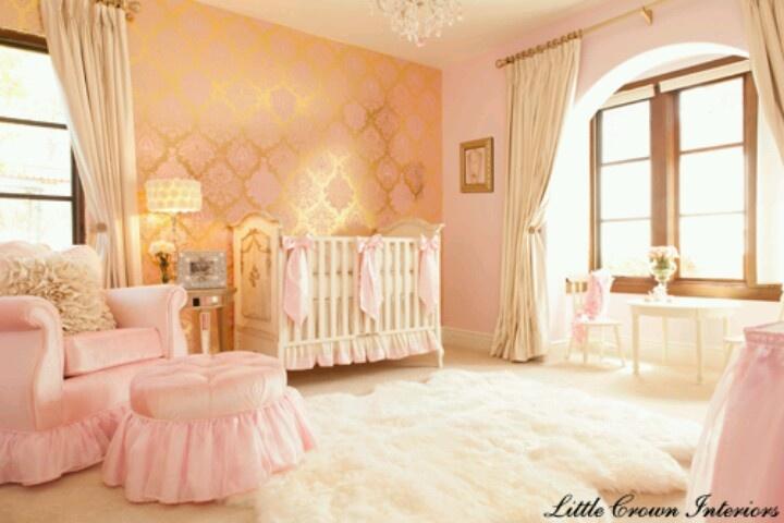 Beautiful Nursery For A Baby Girl Babyeos Pinterest