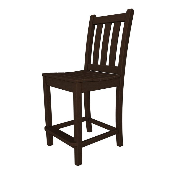 Shop POLYWOOD  TGD101 Traditional Garden Outdoor Counter Chair at The Mine. Browse our patio bar stools, all with free shipping and best price guaranteed.