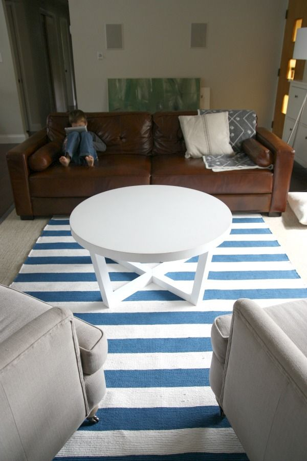 Kid Friendly Dining Room Furniture And Life Pictures Diy Rug 2 Without Stiff Painted Fabric Read Toward Bottom About The Kind Of Paint