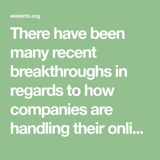 There have been many recent breakthroughs in regards to how companies are handling their online marketing and search engine ranking. There are man(...)