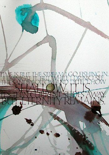 CALLIGRAPHER: Kirsten Burke ~ (Calligraphy as fine art)