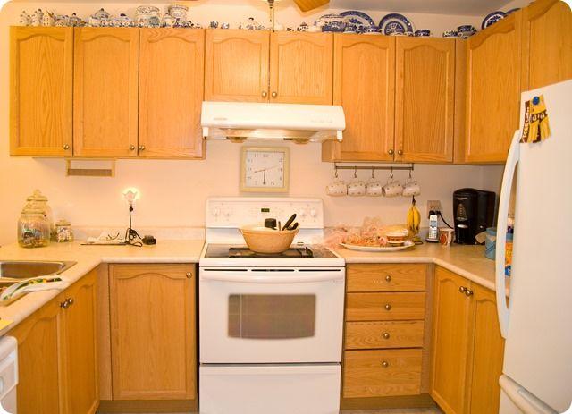 Staining Oak Kitchen Cabinets 1