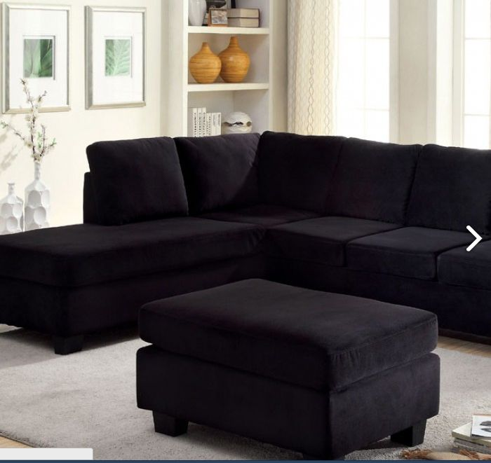 SECTIONAL SOFA LOMMA COLLECTION CM6316Upholstered in plush yet durable flannelette, this modern sofa off ers long-lasting quality and style • Contemporary Style • Ottoman Included • Flannelette Fabric• Plush Seats Sectional Sofa Sale for $597
