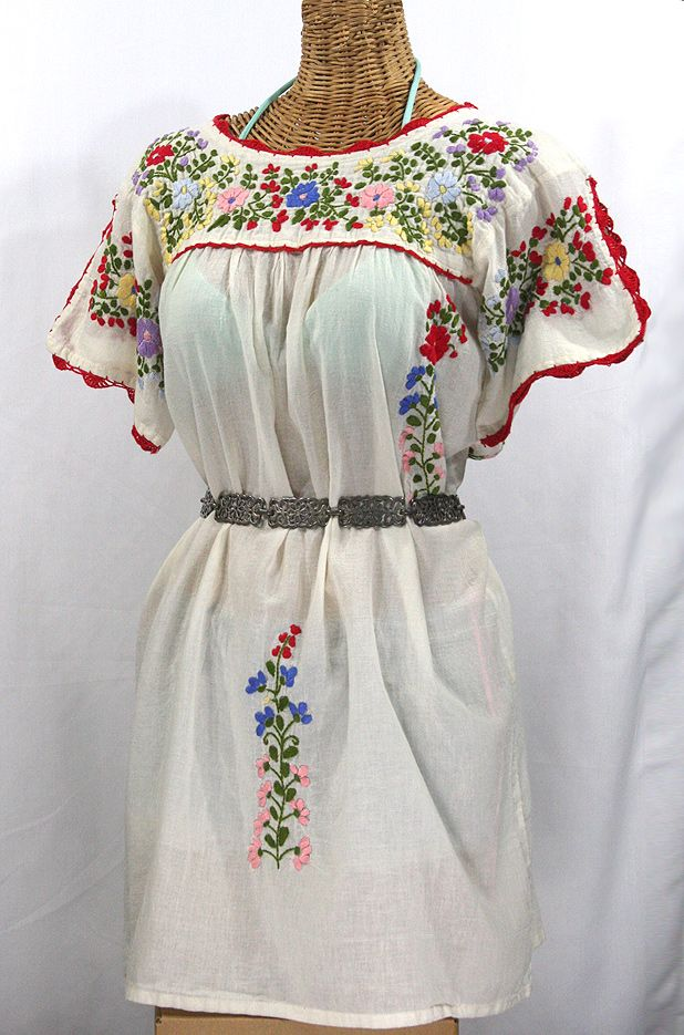 Embroidered dress Artistic embroidery Vintage outfit Gift for her Peasant clothes