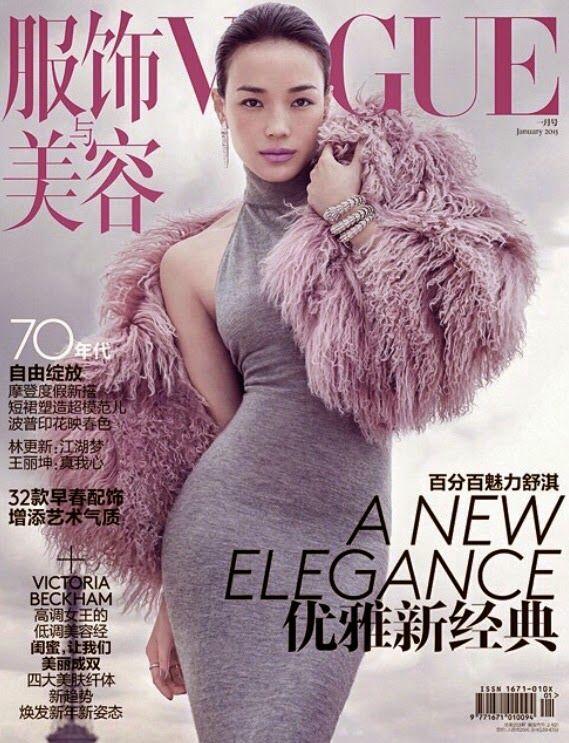 Shu Qi - Vogue China January 2015  photo Chen Man