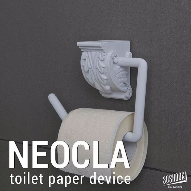 "@3dshookcollections's photo: ""The NEOCLA collection - inspired by accents of classical and vintage design. Place any roll of toilet paper on this impressive toilet paper holder. Check us out at www.3dshook.com #3dprint #3dmodels #3dprinter #3dprinting #makers #bathroom #toiletpaper #toiletpaperholder #HomeDecor #Decor #InteriorDesign #interiors"""