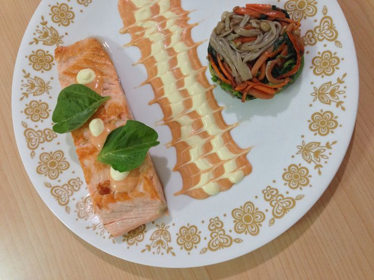 Salmon baked sweet chilli sauce by me