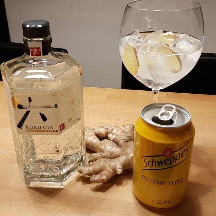 Roku Gin Schweppes Indian Tonic Ginger. #gintonic #gin #dandywithlens #gt @suntory_rokugin Thanks @erlendheiberguk http://ift.tt/2dR8SmY