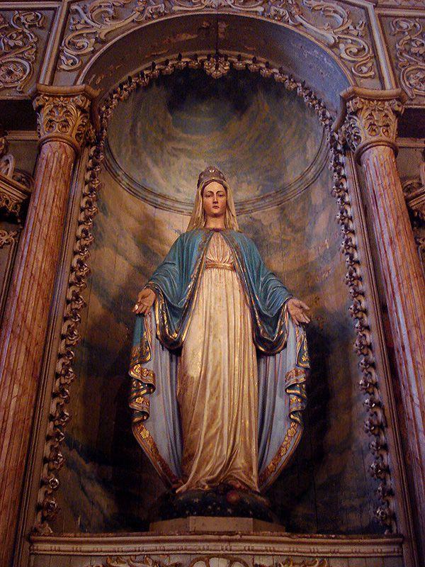 12/8: Feast of the Immaculate Conception (7th century) - Nossa Senhora da Conceição, na Igreja da Conceição em Porto Alegre. Meados do século XIX.