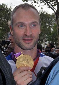 Thierry Omeyer au défilé des médaillés français des JO 2012.