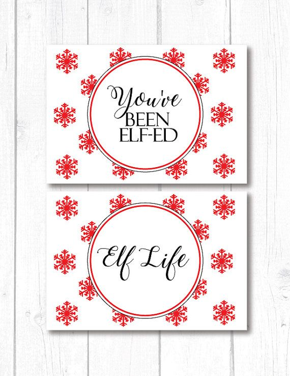 Elf Notes Christmas Elf Notes You've Been Elfed by PapierCouture1