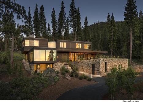 maison moderne bois et pierre - Maison Moderne Bois