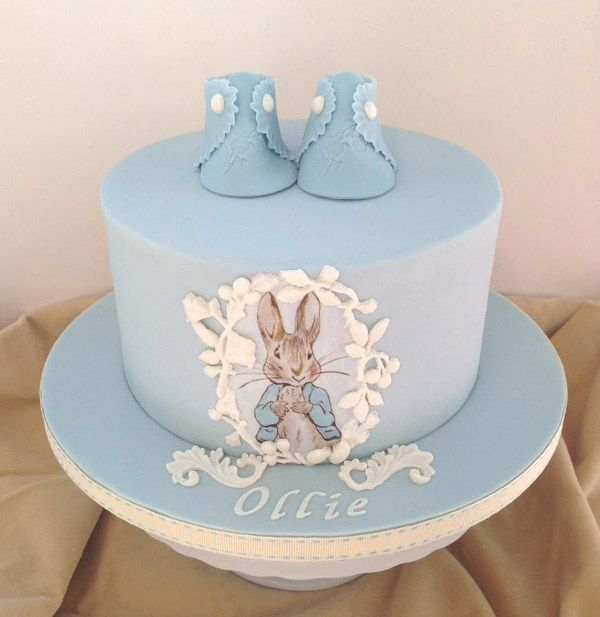 Peter Rabbit christening cake by Craftsy member Artful Bakery