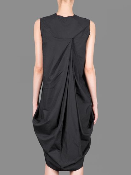 Rick Owens release v-neck dress with pleated front and back side #rickowens