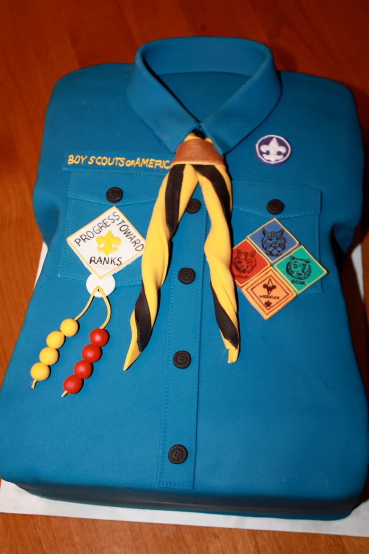 Cub Scout Cake! I get the patches!