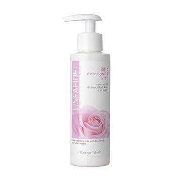Latte detergente viso con estratti di boccioli di Rosa e di Giglio (150 ml)