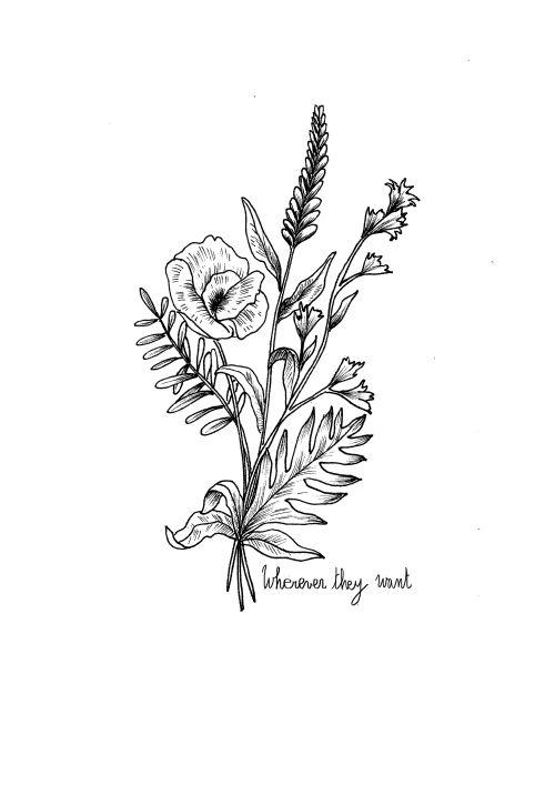 wildflower tattoo | Tumblr
