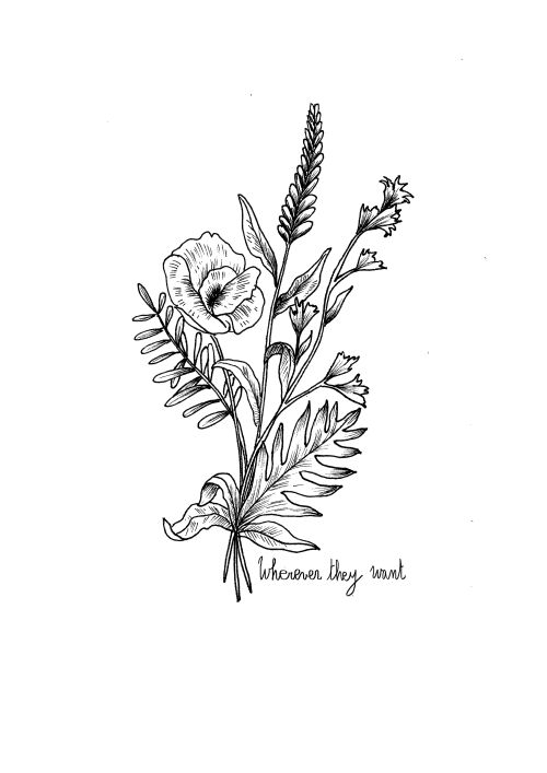 Flower Bouquet Line Drawing : Best ideas about wildflower tattoo on pinterest plant