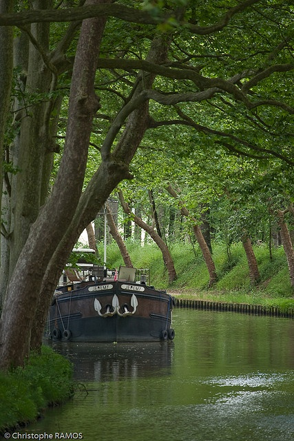 Le canal du midi Aude, France