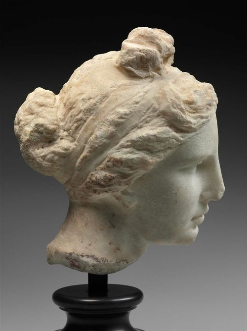 """Head of Aphrodite (""""The Bartlett Head""""), made in Athens, Greece, c.330-300"""