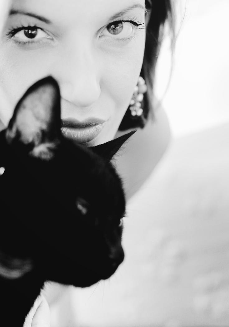 me and my black cat Nabu*    photo by OzMaFra