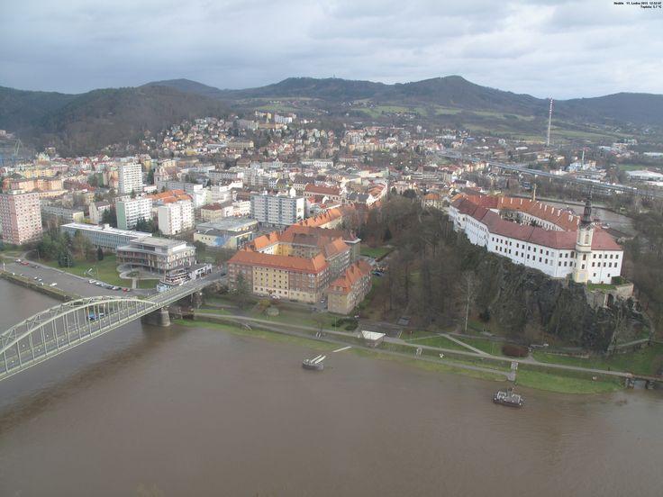 Decin 1 - Czech Republic Live webcams City View Weather - Euro City Cam #CzechRepublic #českárepublika #webcam #niceview #travel #beautifulplace #street #view #cestovní #ulice #počasí #city